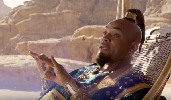 Aladdin on carpet and jasmine