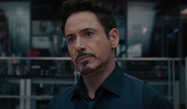 Avengers: Age of Ultron Tony pulls a concerned look in his lab